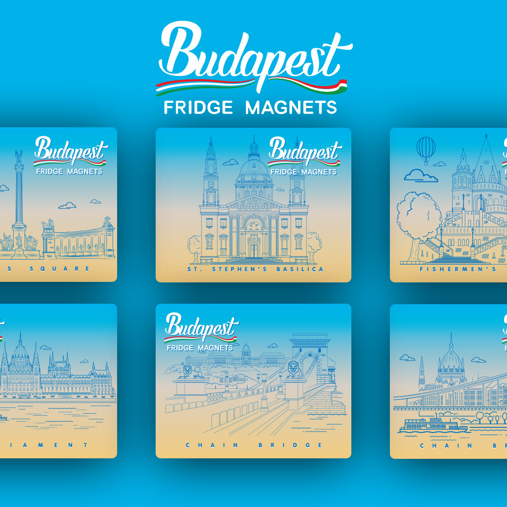 BUDAPEST FRIDGE MAGNETS
